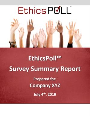 EthicsPoll Organizational Development Report